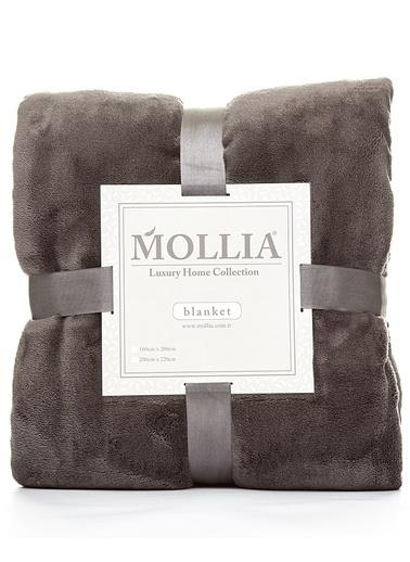 Mollia Soft Touch Çift Kişilik Battaniye Antrasit